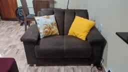 Sofá marron moderno