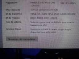 Cpu core i5 top, troco por notebook de mesma configuração!