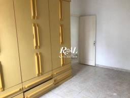 Apartamento com 2 dormitórios para alugar, 80 m² por R$ 1.500,00/mês - Aparecida - Santos/