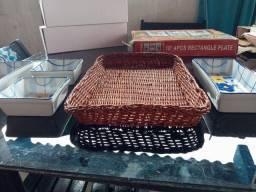 cesta com 4 pecas em loucas pra decoracao sa