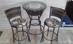 Mesa Bistrô 2 Cadeiras Para Area Gourmet Sacada Apartamento Piscina Jardim Churrasqueira