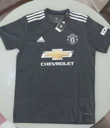 Camisa Manchester United cinza nova 2020-21