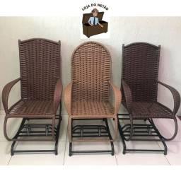 Cadeira de balanço fibra novas