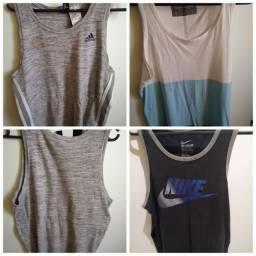 Camisetas regatas Nike, Adidas e Calvin