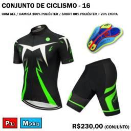Conjunto de Ciclismo Verde Neon