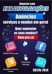 Divulgação no instagram + 7 mil seguidores+ facebook+  whats 1000 grupos  mês  120,00