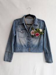 Jaqueta jeans feminina da marisa - brechó passione