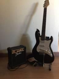 Guitarra strinberg e amplificador