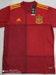Camisa Espanha Titular Adidas 20/21 - Tamanho: G