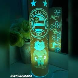 Luminária decorativa tema futebol