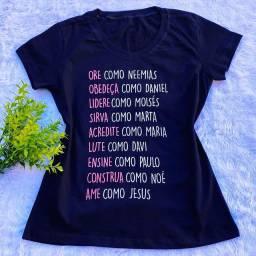 T-shirt's Masculino e Feminino, Todas as Cores e Estampas