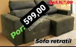 Sofá retratil(peças limitada)
