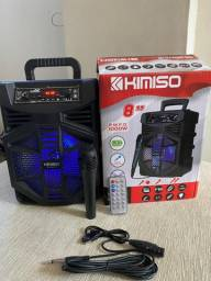 Caixa de Som Kimiso Karaoke Wireless Bluetooth QS-5801