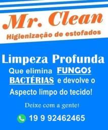 Higienização de Estofadas R$80,00