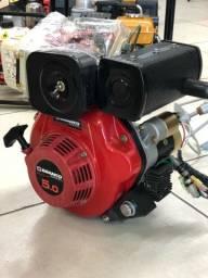 Motor marca BRANCO diesel 5,0cv com partida elétrica