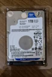 Disco Rígido 1 TB SATA III Western Digital 5400RPM (notebook)<br>R$300