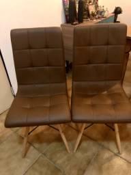 Conjunto com 2 Cadeiras Fitz Eiffel Marrom Whisky
