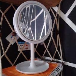 Ring light com ventilador integrado e lupa 5x