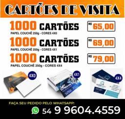 Cartões de Visita Promoção!!! Cartões Pastas Folders Panfletos Envelopes