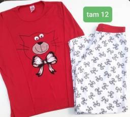 NOVO - pijama de malha tam 12