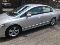 Honda civic 2009 lxs aut flex + impecavel + blindado n.3a