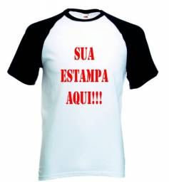 Camiseta personalizada na cor branca e reglan