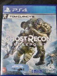 Jogo ps4 Ghost recon breakpoint semi novo