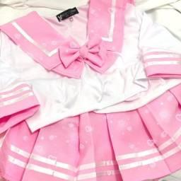 Uniforme japonês rosa Cosplay Seifuku kawaii