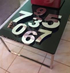 Números pra casas em aço inox preço fábrica Zap *23