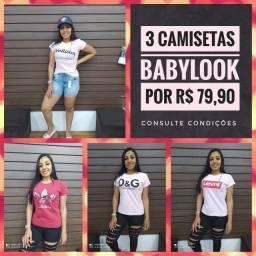 Baby Look - Várias estampas - Fazemos Entrega