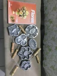 Conjunto de formas de metal para confecção de flores