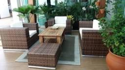 Conjunto de sofá Curitiba em fibra sintética