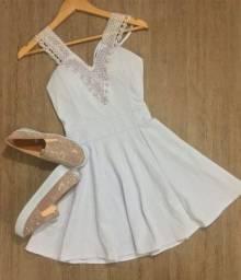Promoção Kit Vestido Renda + Sapatilha