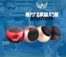 Mini Caixinha De Som Bluetooth Tws Metal Amplificada Speaker