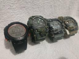 Relógios baratos (xinjia e g-shock)
