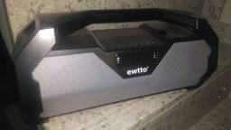Caixa de som Bluetooth e rádio