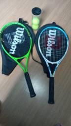 2 Raquetes Wilson + 2 bolinhas