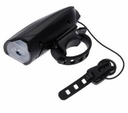 Farol Lanterna Com Buzina - Pilhas - 3 Níveis de Luminosidade