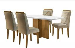 Mesa 4 cadeiras nova sem uso