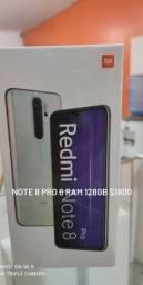 Note 8 pro 6 RAM 128gb novos lacrados originais globais com garantia de 1 ano