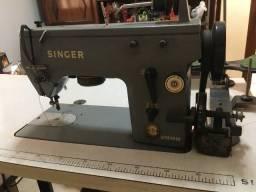 Máquina Singer Industrial usada, completa com mesa e motor