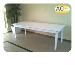 Mesa em madeira brancas (2.50 m)