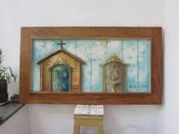 """quadros do artista: """"Santo de Casa"""""""