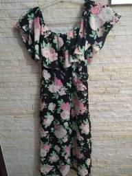 Vestido Mid floral tamanho M
