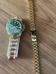 Kit relógio e pulseira Rolex