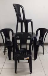 Jogo c/4 Cadeiras Bistrô - Antiderrapantes e Extra Forte