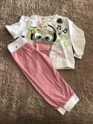 Lote de pijamas ecamisolinhas infantins
