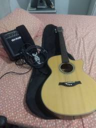 Violão Tagima Woodstock Series TW- 29 Elétrico + Caixa amplificadora Meteoro MG 10