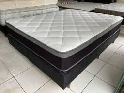 impecável cama box queen size