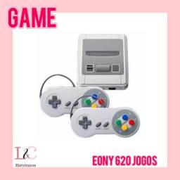 Super nitendinho eony com 2 controles e são 620 jogos clássicos incluindo Mário Bros